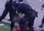 Torcedor do Benfica é agredido por policial ao lado dos dois filhos - Reprodução