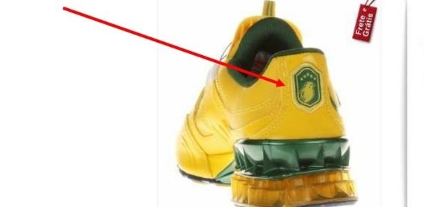 96ea60a06ae Tênis Puma com símbolo que imitaria o da seleção brasileira Imagem  TJ-SP