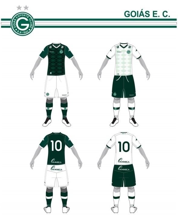 Uniformes do Goiás para o Campeonato Brasileiro 2015