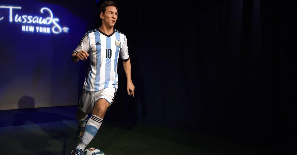 Lionel Messi cirou estátua de cera no Museu Madame Tussauds de Nova York