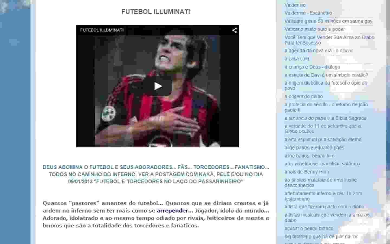 """""""Deus abomina o futebol e seus adoradores"""", diz postagem do pastor Maurício que usa imagem de Kaká - Reprodução"""