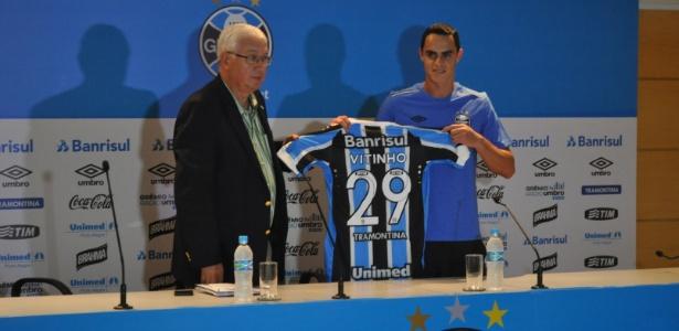 Vitinho, como era conhecido no Grêmio, não fez um gol sequer pelo time gaúcho