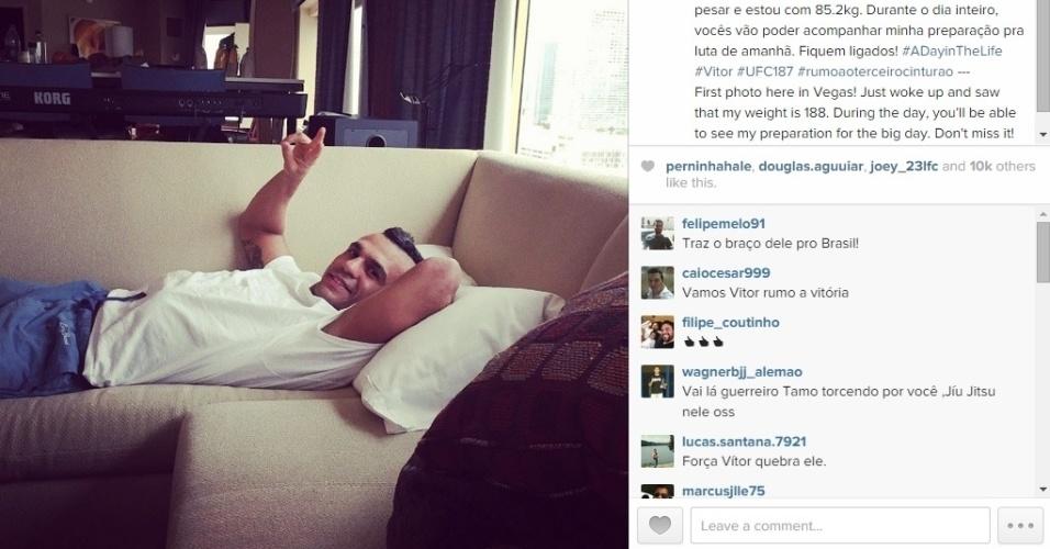 Vitor Belfort descansa antes de começar preparação desta sexta-feira (22)
