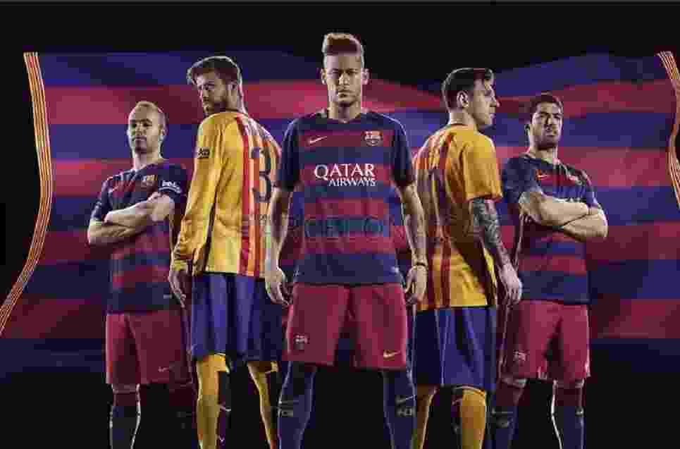 Barcelona lançou seu uniforme para a temporada 2015/2016 - Divulgação/ FC Barcelona