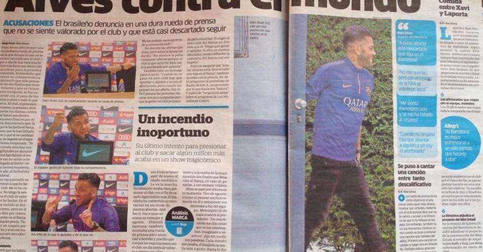 Jornal Marca fez duras críticas ao brasileiro nesta terça