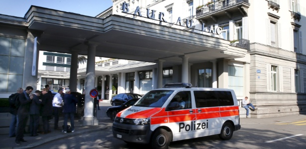 Hotel Baur au Lac, onde dirigentes da Fifa foram presos em maio de 2015