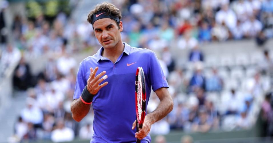 Roger Federer na segunda rodada de Roland Garros