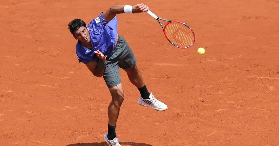 Thomaz Bellucci na segunda rodada de Roland Garros