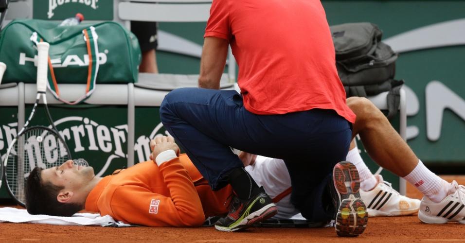 Novak Djokovic na segunda rodada de Roland Garros