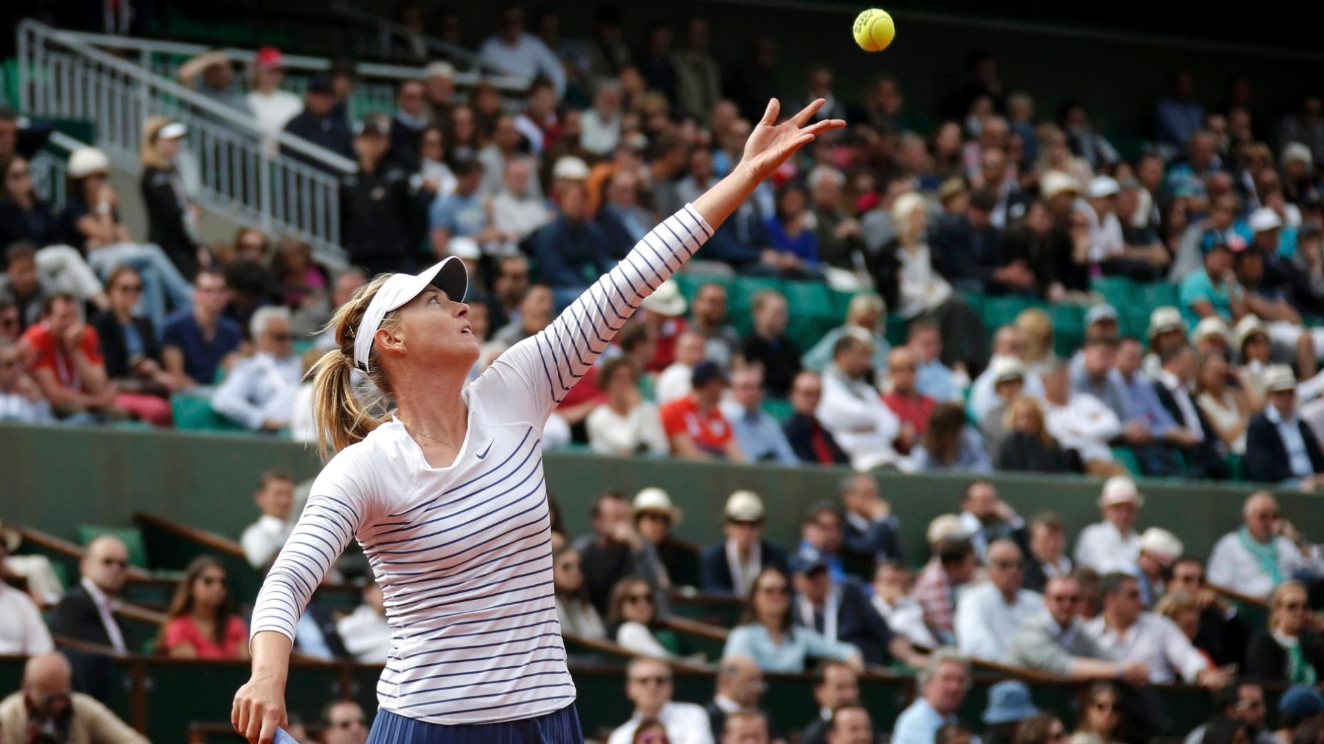 Maria Sharapova na terceira rodada de Roland Garros