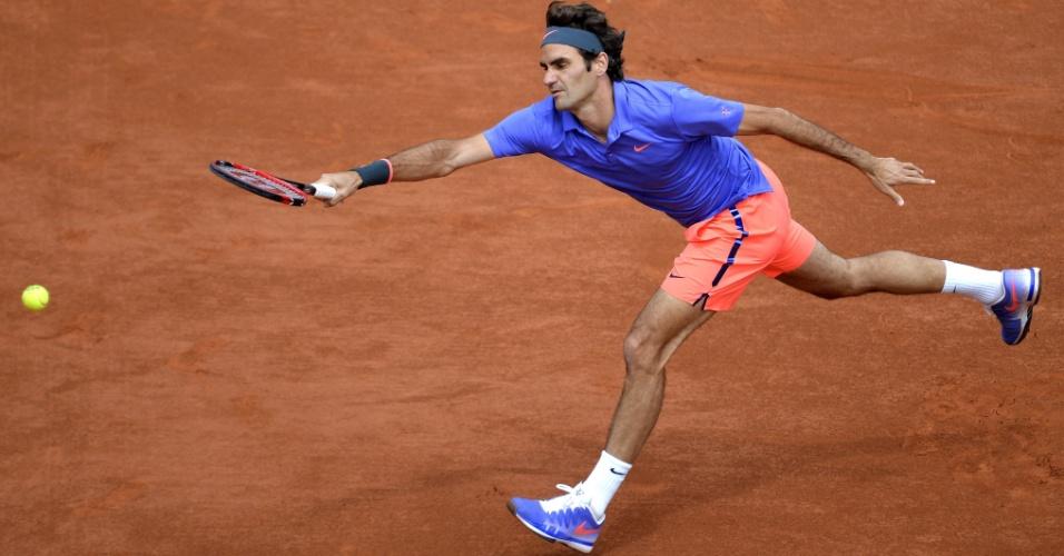 Roger Federer na terceira rodada de Roland Garros