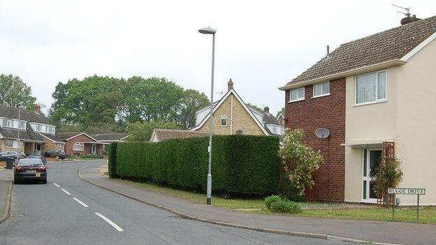 Antiga casa de Ayrton Senna na cidade de Norwich (Inglaterra)