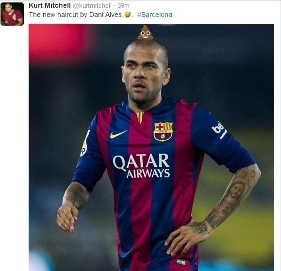 O Twitter ficou repleto de memes a respeito do penteado de Daniel Alves