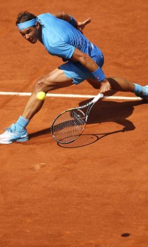 Rafael Nadal pela terceira rodada de Roland Garros