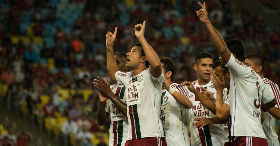 Fred comemora seu segundo gol na atual edição do Campeonato Brasileiro