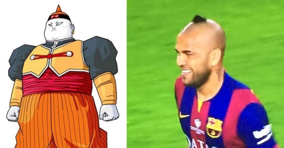 O cabelo do lateral brasileiro foi comparado ao personagem Androide 19, de Dragon Ball
