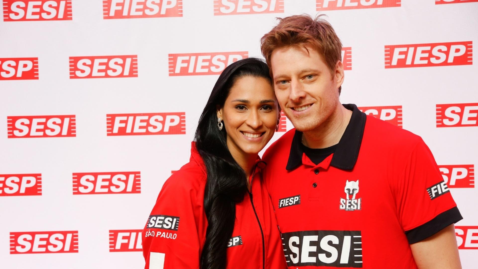 Jaqueline e Murilo jogarão pelo Sesi na temporada 2015/2016