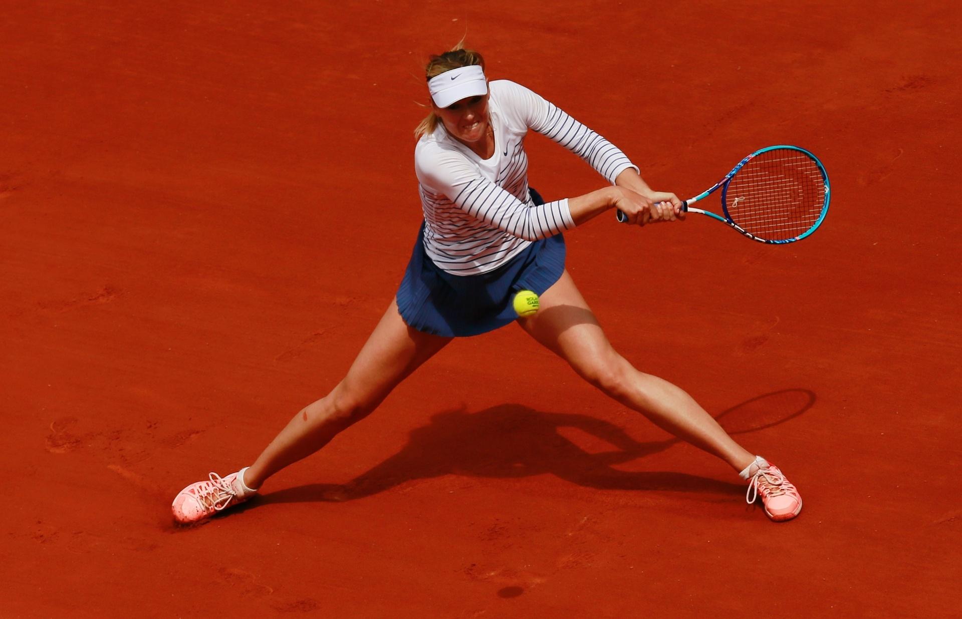 Veja imagens da tenista russa maria sharapova bol fotos for Porte x roland garros
