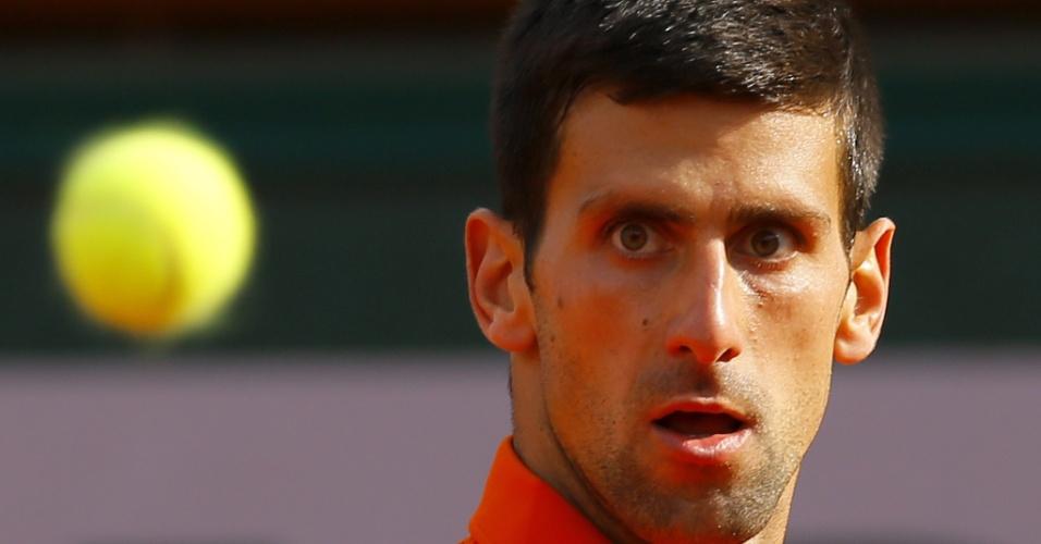 Novak Djokovic nas oitavas de final em Roland Garros