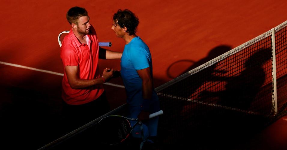 Rafael Nadal e Jack Sock nas oitavas de final em Roland Garros