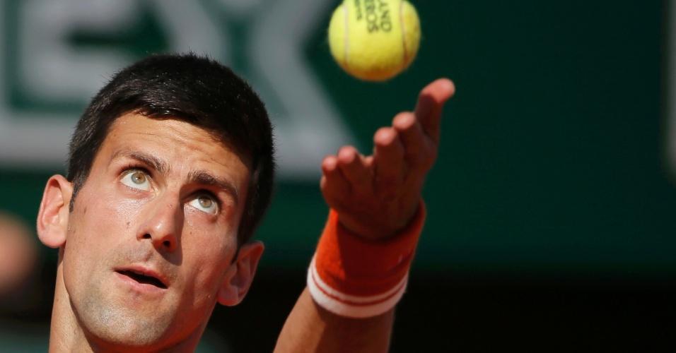 Novak Djokovic nas semifinais de Roland Garros