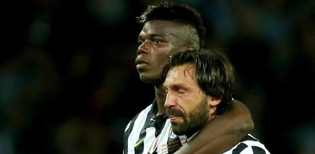 Pogba e Pirlo foram companheiros de equipe na Juventus