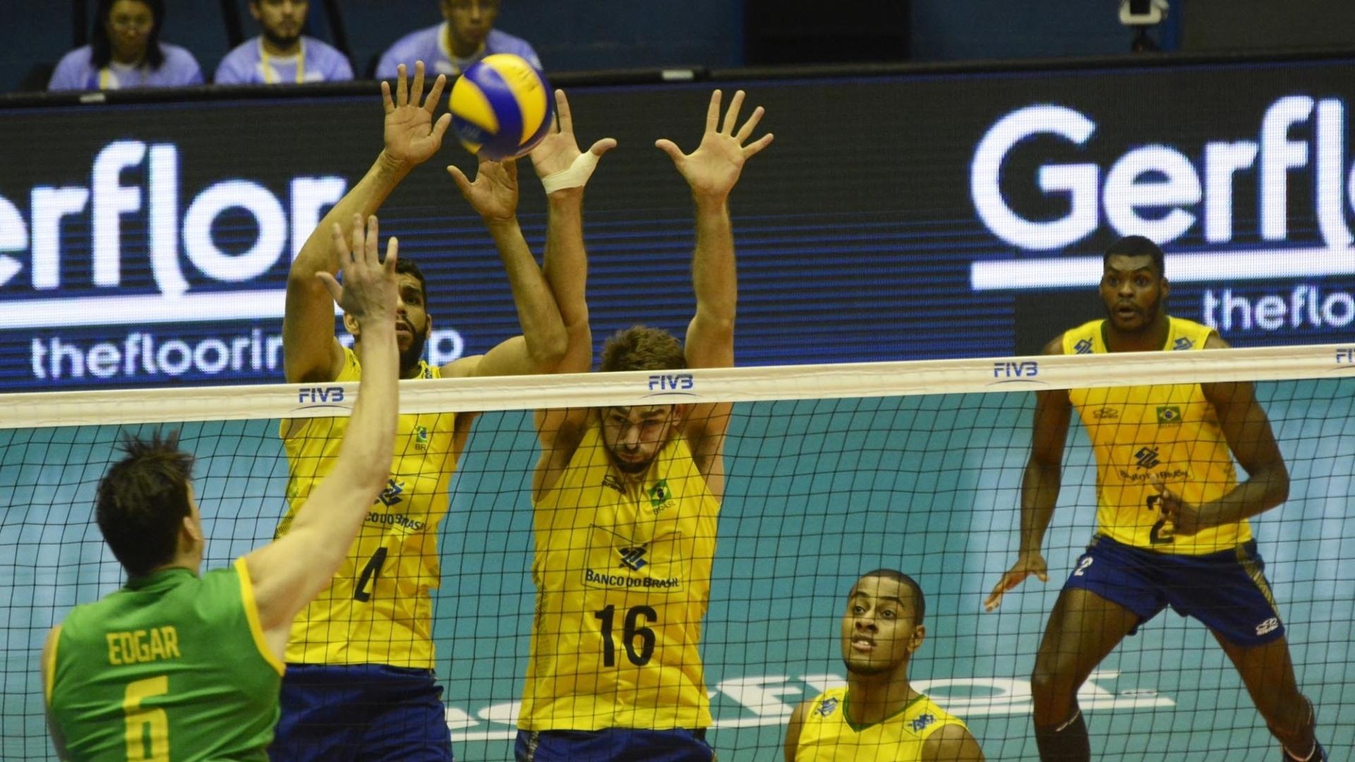 Bloqueio brasileiro funcionou bem e foi responsável por 24 pontos contra 20 dos rivais neste fundamento