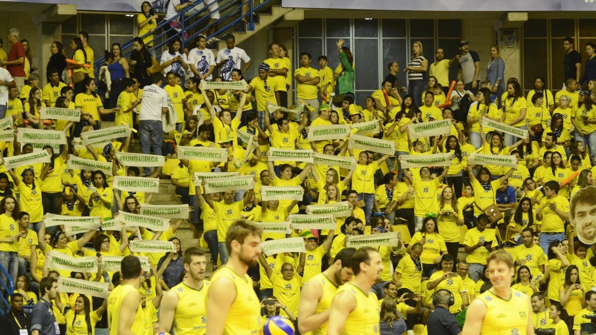 Mais uma vez a torcida não decepcionou e lotou o ginásio em São Bernardo do Campo