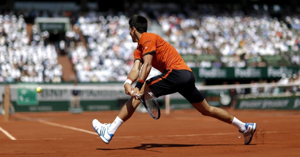 Novak Djokovic na final de Roland Garros