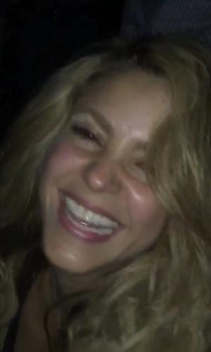 Shakira na festa do Barça campeão da Liga dos Campeões