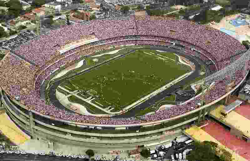 Vista aérea do estádio do Morumbi - Rubens Chiri /SaoPauloFC.net