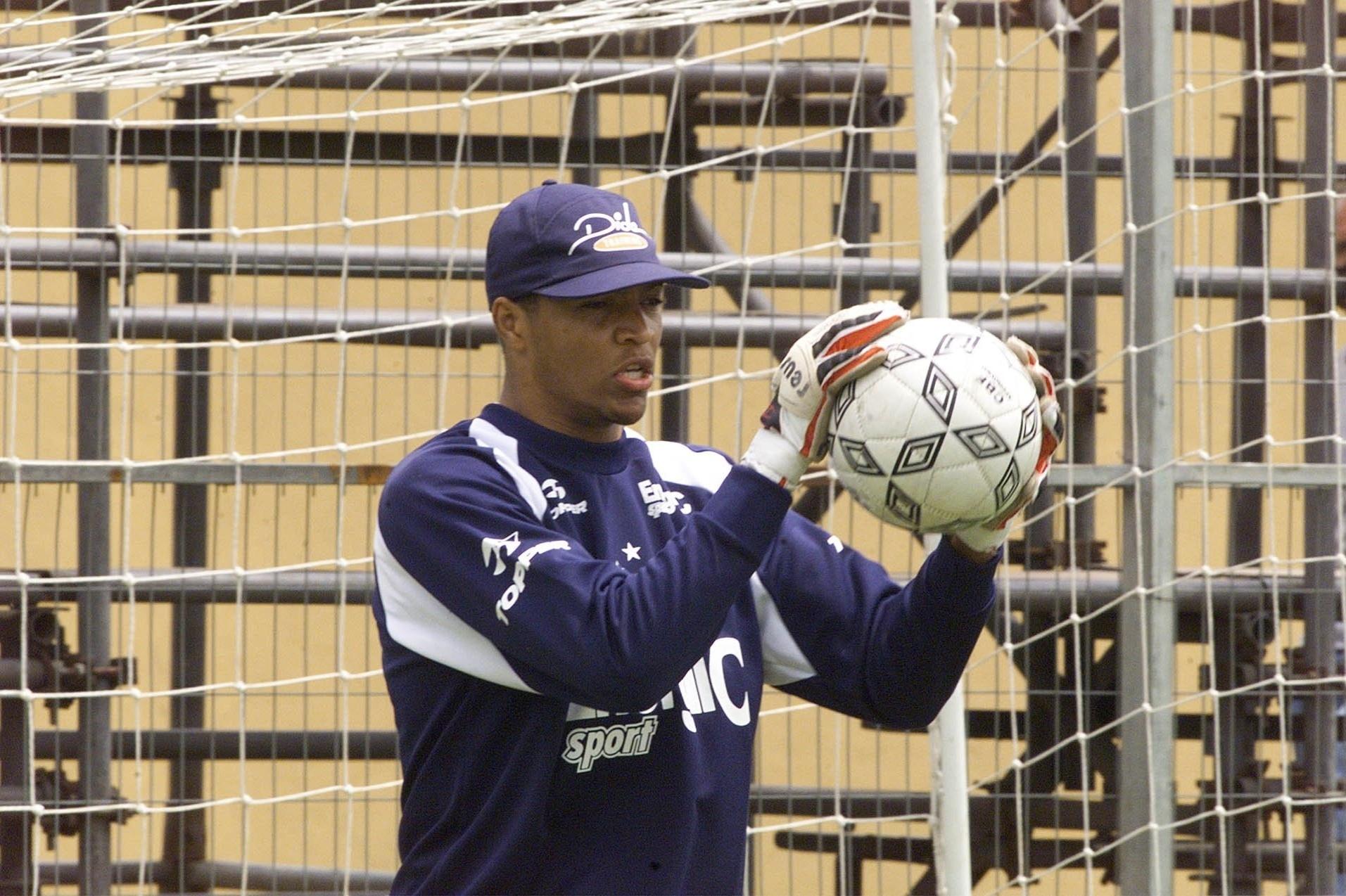 Dida durante sua passagem pelo Cruzeiro