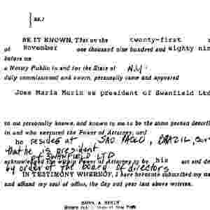 11.jun.2015 - Documento mostra que José Maria Marin era presidente da Swanfield Ltd., empresa sediada nas Ilhas Virgens Britânicas, que comprou em 1989 um apartamento na Trump Tower. Brasileiro nunca declarou imóvel ao Banco Central. - Reprodução