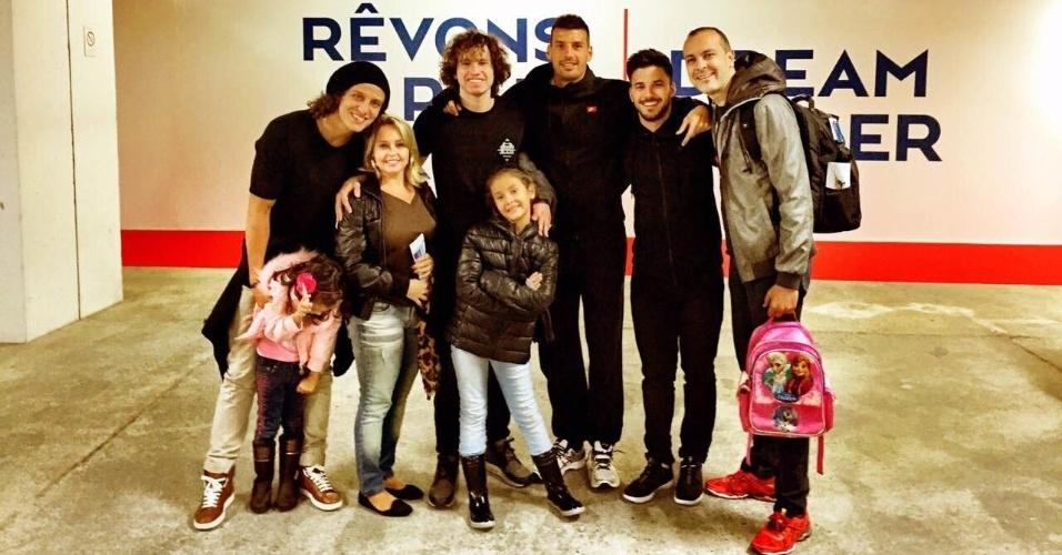 Ele e a família ficaram oito dias hospedados na casa do zagueiro do Paris Saint-Germain
