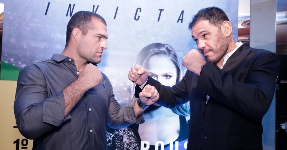 Maurício Shogun e Rogério Minotouro se encaram antes de terem revanche no UFC 190
