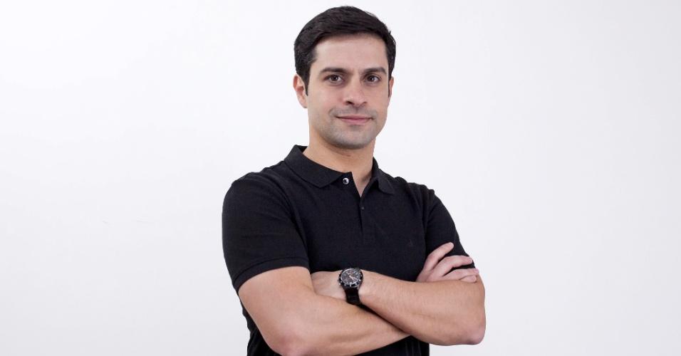 O ator e apresentador Luciano Amaral, que viveu Lucas Silva e Silva no seriado 'Mundo da Lua', hoje é noivo da repórter da Band Kalinka Schutel