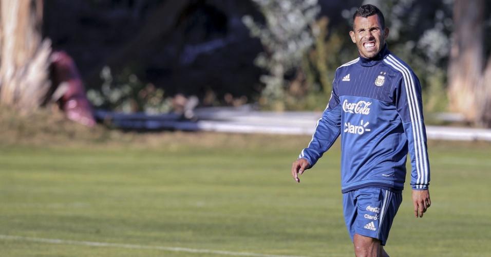 Tevez treina junto com a seleção argentina para a Copa América