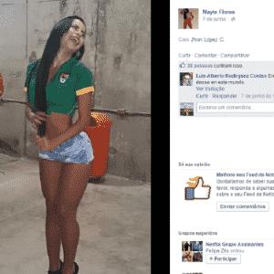 Mayte participa de concurso de jornal chileno para eleger a Rainha da América - Reprodução/Facebook
