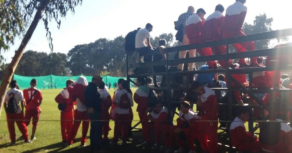 Convidados assistem ao treino da Argentina em La Serena