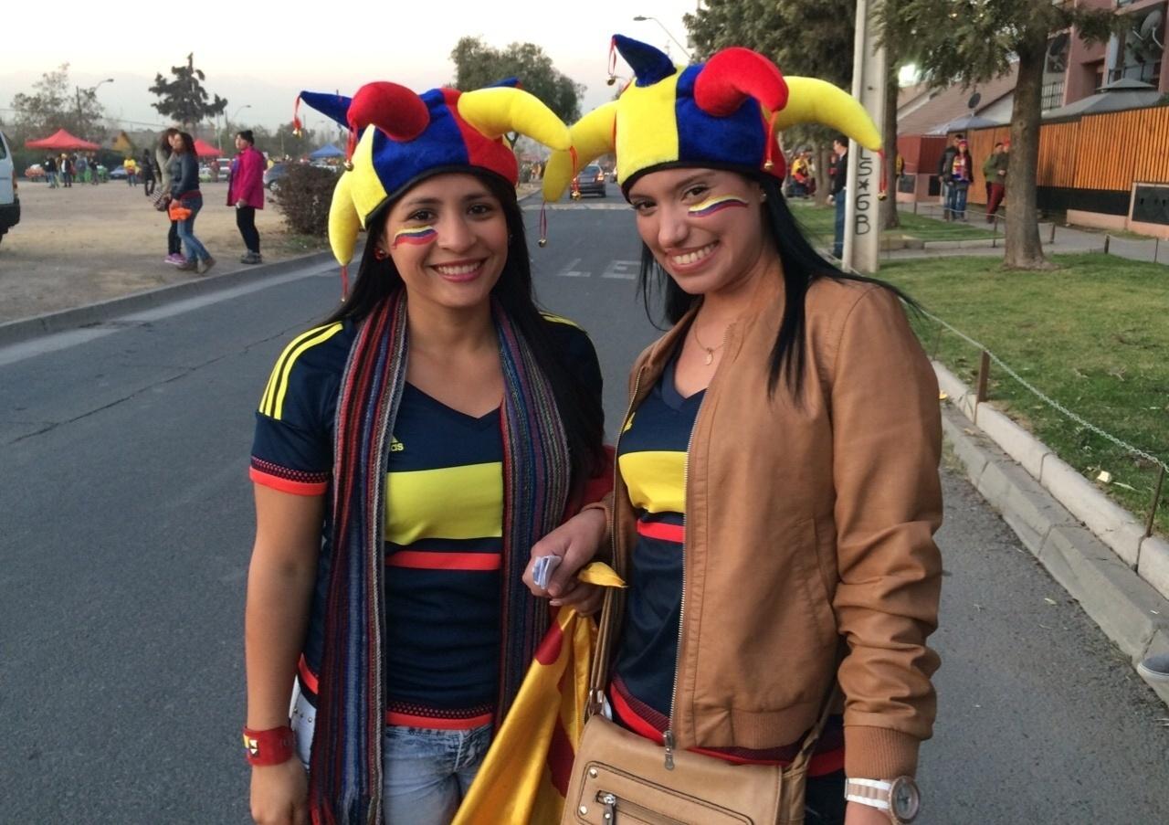 As mulheres marcam forte presença antes do jogo entre Brasil x Colômbia