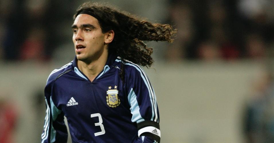 Juan Pablo Sorín em partida da Argentina