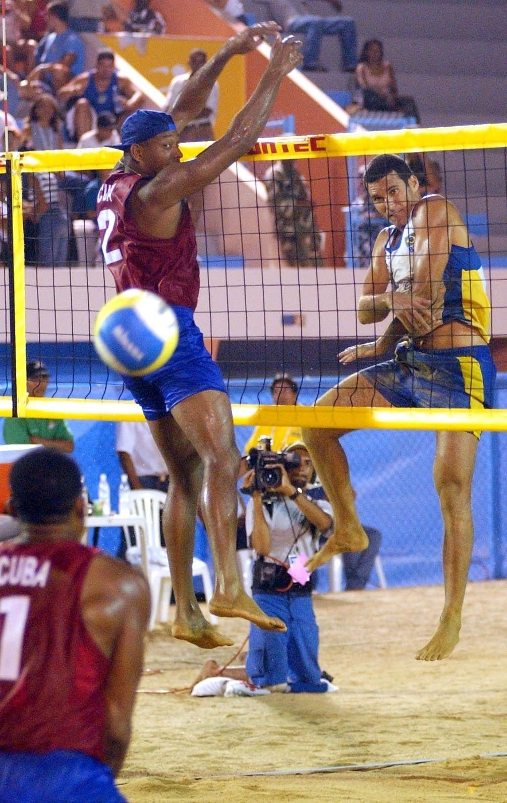 Luizão e Paulo Emílio ficaram com a prata no Pan de 2003, em Santo Domingo, na República Dominicana
