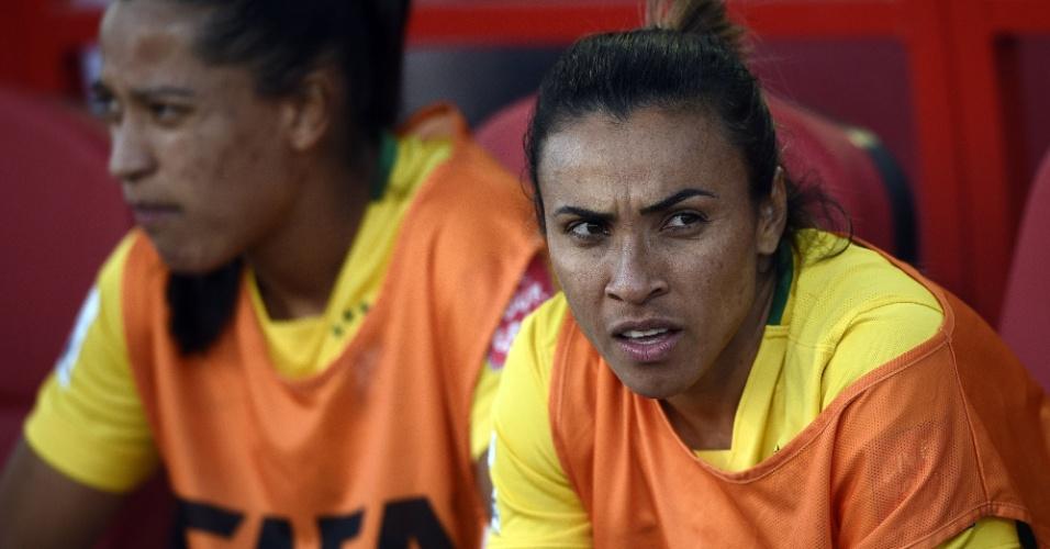 Marta é poupada pelo técnico Vadão e fica na reserva em Brasil x Costa Rica