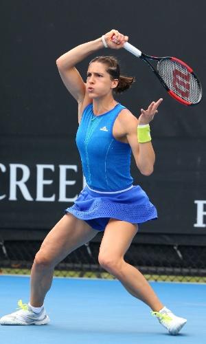O uniforme de Andrea Petkovic é idêntico ao usado por Wozniacki