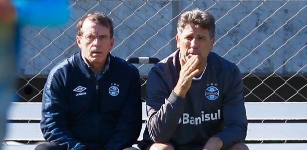Odorico Roman, vice de futebol, e Renato Gaúcho estudam nomes para o Grêmio