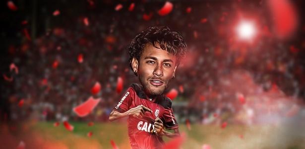 A torcida do Flamengo não esconde o sonho de ver Neymar com a camisa rubro-negra