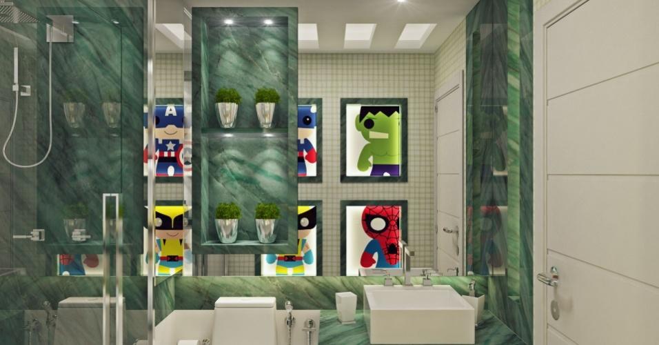 Banheiro de um dos filhos do jogador