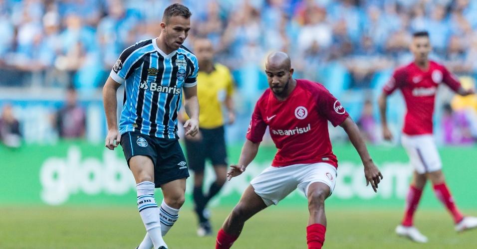 Arthur é marcado por Patrick em clássico entre Grêmio e Internacional