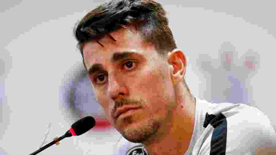 Lateral Danilo Avelar, do Corinthians, concede entrevista coletiva no CT Joaquim Grava - MARCO GALVãO/FOTOARENA/ESTADÃO CONTEÚDO