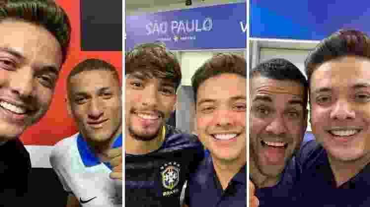 Wesley Safadão ainda posou para fotos com Richarlison (e), Lucas Paquetá (c) e Daniel Alves (d) - Reprodução/Instagram